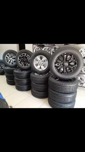 17 and 18 new tyres and rims for sale.