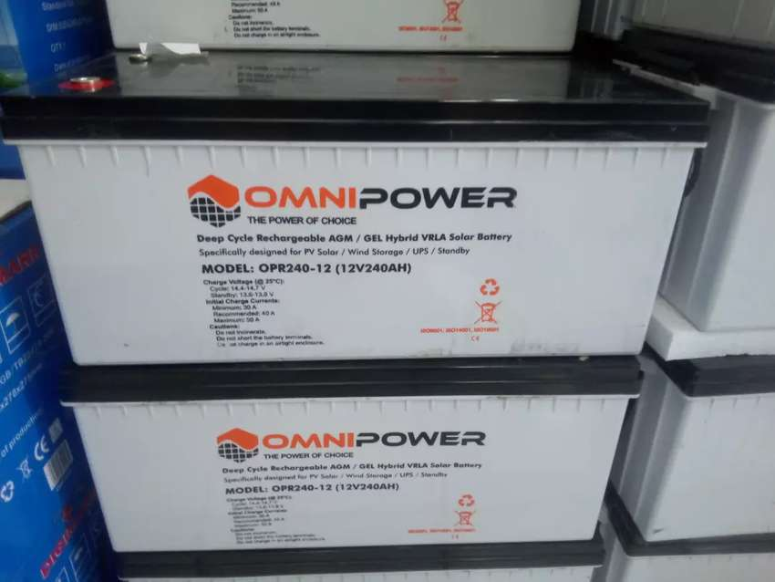 Brand New Omni power solar batteries 240ah12v 0