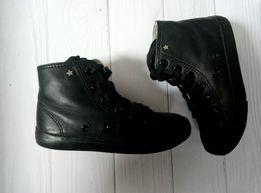 кожаные кеды для девочки Next в отличном состоянии(стелька-до 17см)
