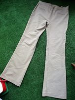 spodnie gładkie proste rozciągliwe XL