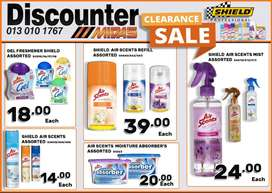 Shield Clearance SALE now on at Discounter Midas!