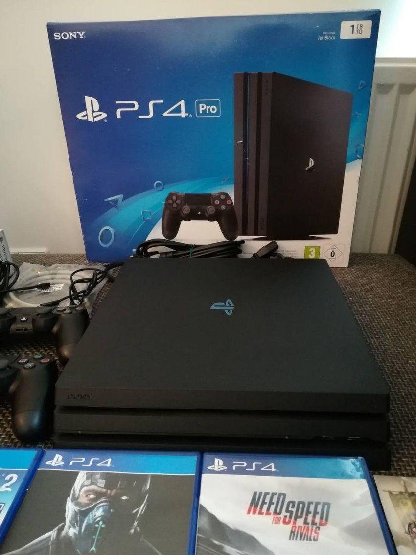 SONY PS4 PRO Konsole 1TB + NEUER Wired Controller - Spielkonsole - Pl 0