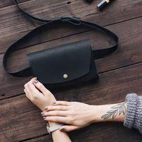 Сумка на пояс +Подарок. (Cross body) Кожаная женская сумочка из кожи