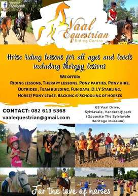 Horse riding lessons, therapy and Stabling