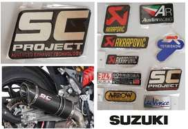 Suzuki SC Projects aluminium exhaust silencer decals badges emblems