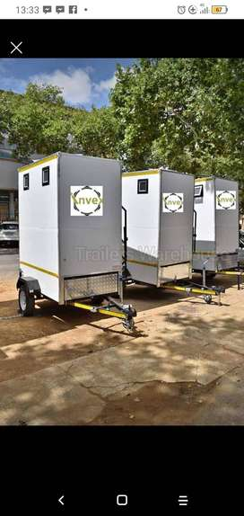 mobile vip toilets, mobile fridges , mobile kitchens and coldroomd