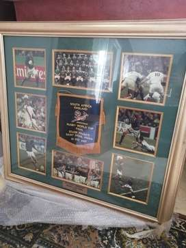 2007 Rugby world cup final Players pendant framed