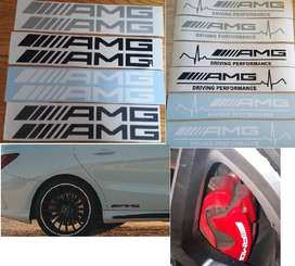 AMG car and caliper decals stickers graphics
