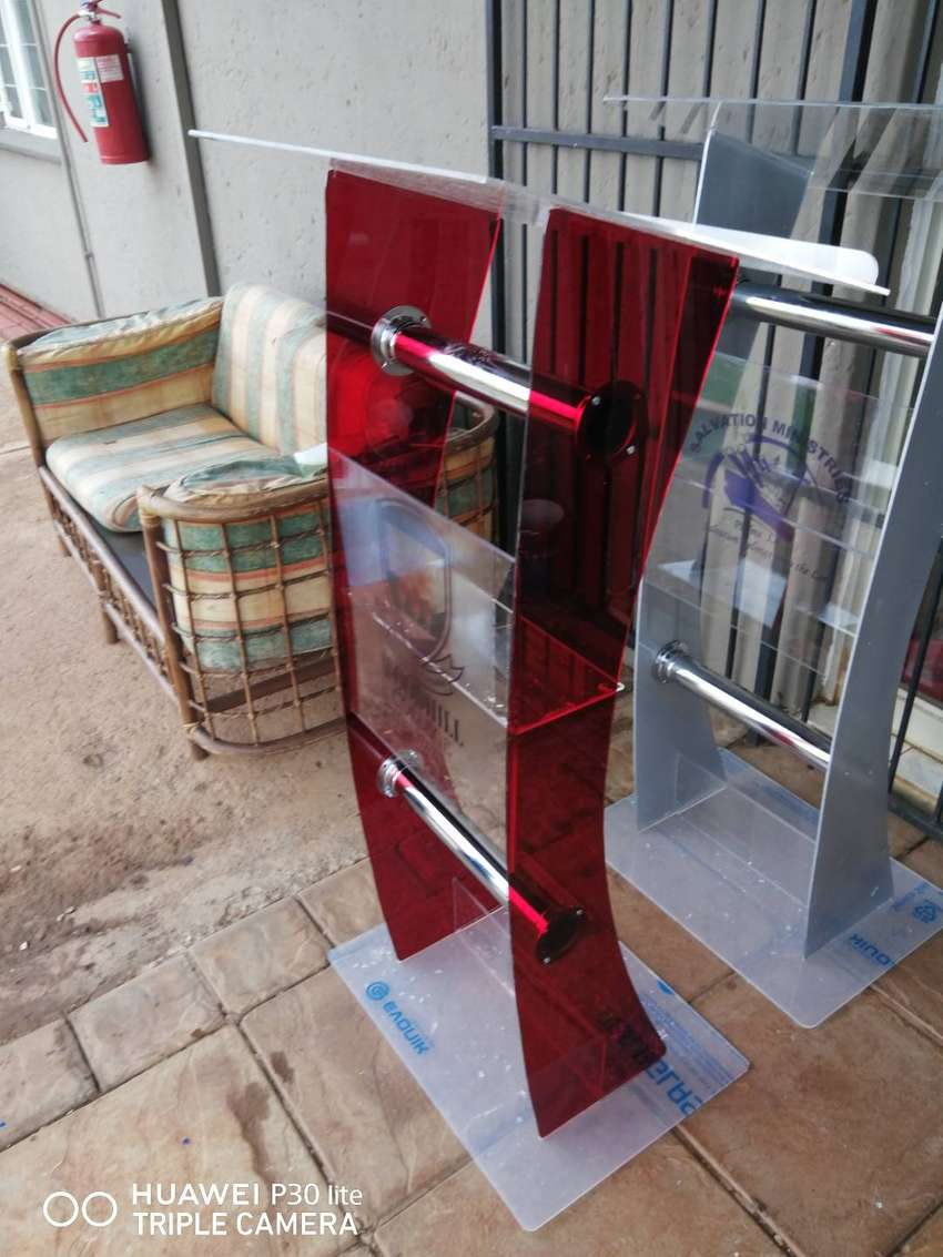 Lovely Translucent Red Pulpits/ Podiums