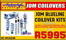 Jom Blueline Coilovers available for VW GOLF 1,2,3,4,5,6,7 and VW POLO