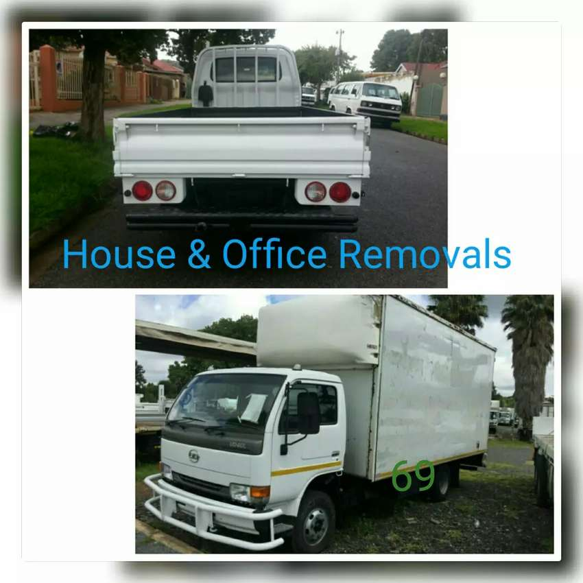 Removal trucks and bakkies for hire 0