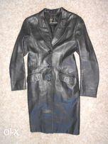 Кожаное пальто из Италии 46р м-ка