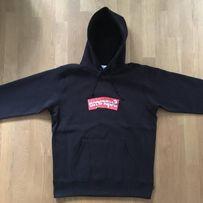 Supreme X Comme Des Garcons CDG Box Logo Sweatshirt Hoodie SS17 Black