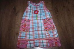 Sukienka letnia w kratkę rozmiar 98cm (3 latka)
