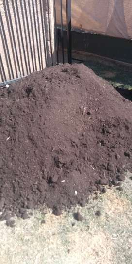 Top soil mixed up with compost