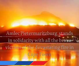 #fire #capetown  #CapeTownFire Our thoughts and prayers go out to our