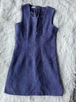 Fioletowa ciepła sukienka