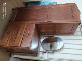 antique bedroom cupboard ,imbuia wood ball and clowpote