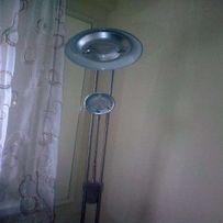 PIĘKNA Lampa stojąca srebrna.