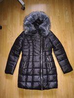 Куртка зимняя Foleexin НОВАЯ, куртка холлофайбер, пальто размер М-L