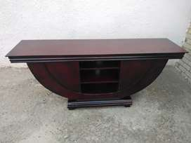 Burgandy wood TV stand for sale