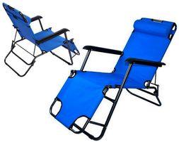 LEŻAK PLAŻOWY Składany Fotel ogrodowy 3 POZYCJE 4K