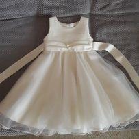 Шикарное платье цвета айвори 92-98 см