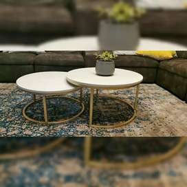 Elegant granite-topped coffee table suitable for home and office
