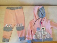 Костюм для девочки, брюки и кофта с капюшоном