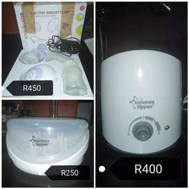 Baby bottle warmer and breast pump