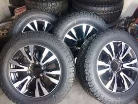 New set of bakikie mage wheel and tyres for Isuzu 255/60/18 available