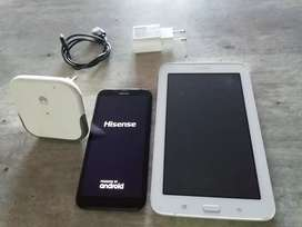 Phone, Tablet and Hauwei Router