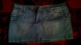 Spódniczka, spódnica mini jeans