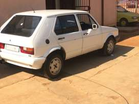 I'm selling my car,white golf,engine still running,just need a starter