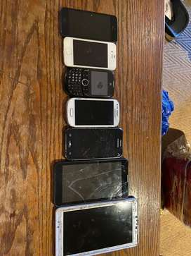 Assorted phones and tablets