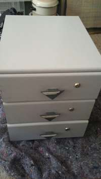 Image of Three drawer side unit or for kiddies room in good conditioncondition