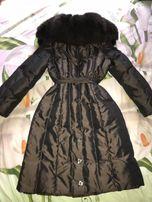 пуховик зимний очень теплый пальто на пуху зима пуховое для девочки