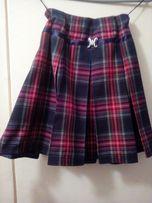 Юбка школьная на девочку 7-10 лет, шотландская клетка, продам