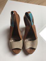 Buty sandały na obcasie 38
