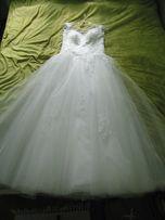 Suknia ślubna Princessa 36/38 - Jola Moda - Tiul - Koronka - Gorset