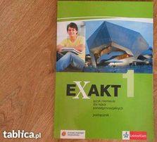 Exakt 1. Podręcznik -Język niemiecki dla szkół ponadgimnazjalnych