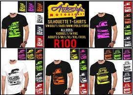 Autostyle Silhouette Tshirts VW GOLF 1 - AUDI - BMW - POLO -FORD ALL