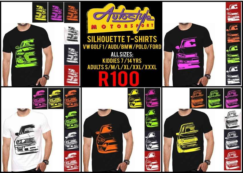 Autostyle Silhouette Tshirts VW GOLF 1 - AUDI - BMW - POLO -FORD ALL 0