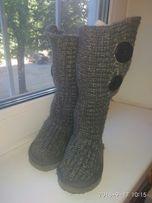 Сапоги вязанные, сапоги - чулки на девочку 25 размер