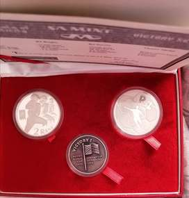 1995/1996 Proof Silver Rugby and Soccer set