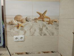 Плитка для ванной. Golden tile. Summer stone holiday