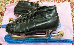 Коньки хоккейные подростковые (р. 23,5)