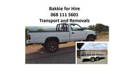 Uber a bakkie for hire, furniture removals, pick and drop
