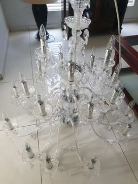 24 PRINCESS ACRYLIC CRYSTAL CHANDELIER