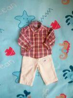 Рубашечка і штанішки-котончики 6-12міс.